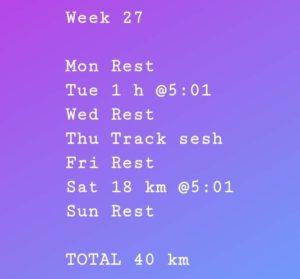 time-to-run harjoitusviikko