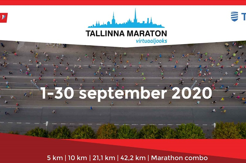 Tallinna Maraton virtuaalijuoksu 1-30. syyskuuta