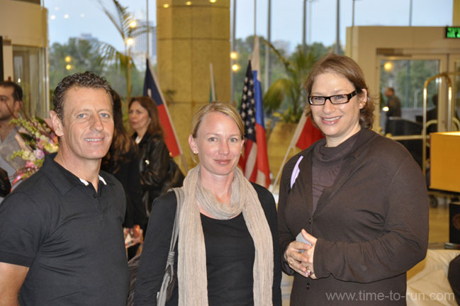 Nick Bester, Franziska Wauch and Sharon Lewis