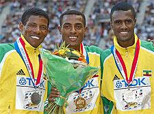 Bekele Gebrselassie Sihine - World Championships Paris 2003 10 000m