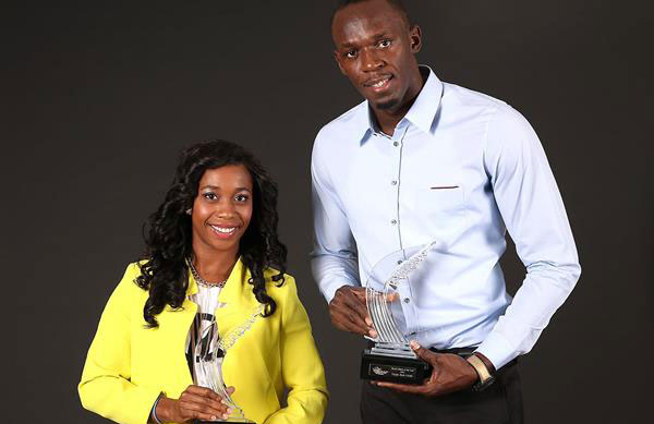 Shelly-Ann Fraser-Pryce and Usain Bolt