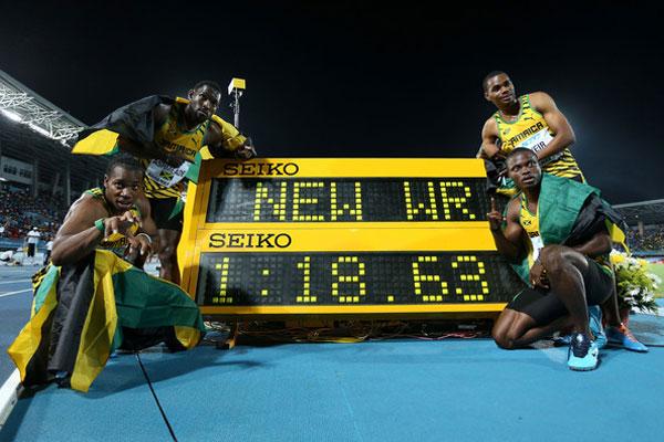 200m relay world record