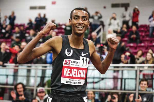 Yomif Kejelcha - Boston Mile World Record