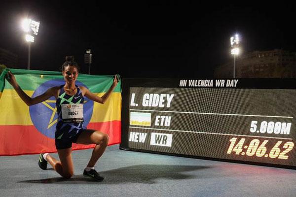 Gidey and Cheptegei break world records in Valencia