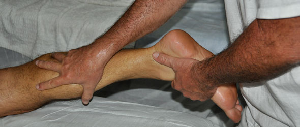 The procedures for sports massage