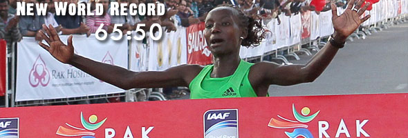 Mary Keitany - New WR 65:50